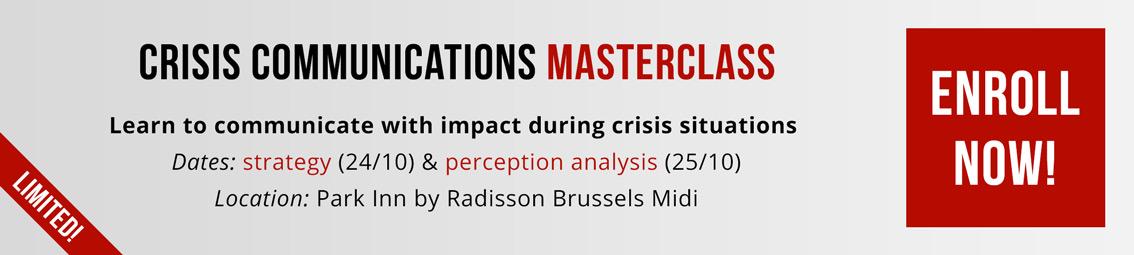 Masterclass Crisiscommunicatie
